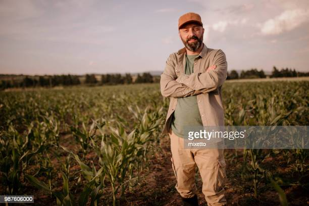 farmer on his field - agronomist stock pictures, royalty-free photos & images