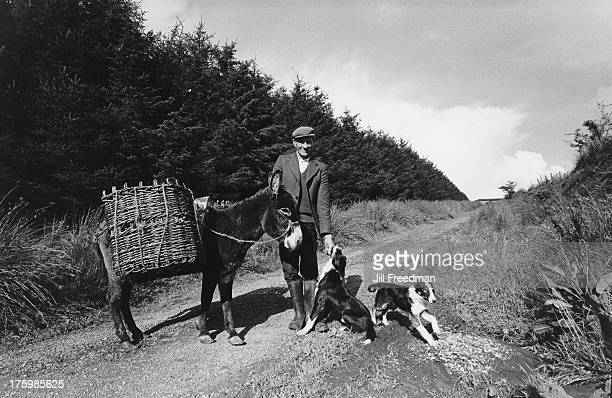 A farmer on his way to the bog to gather peat County Leitrim Ireland 1981