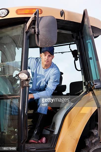 Agriculteur sur Tracteur