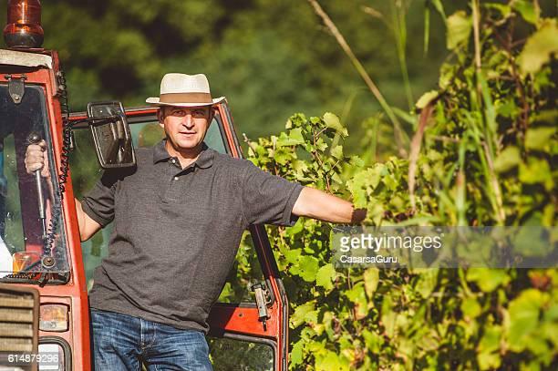 Farmer Portrait in the Vineyard