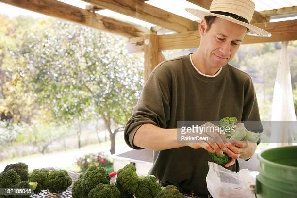 Agriculteur préparer pour la communauté Farmer's Market