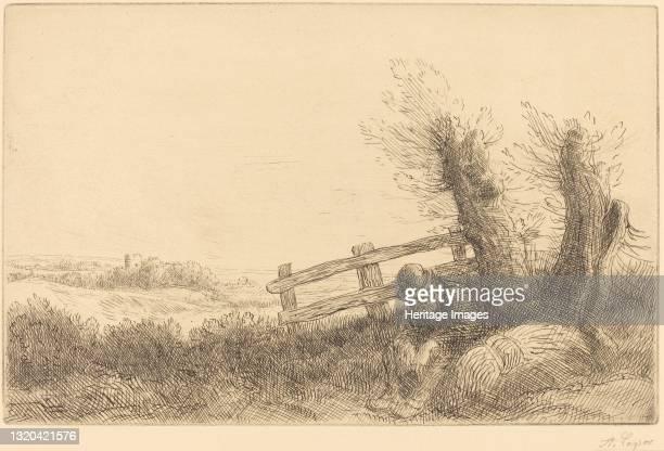Farmer Reclining . Artist Alphonse Legros.
