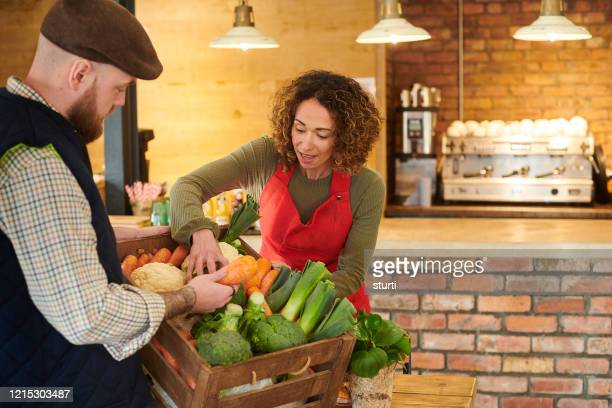 farmer to fork - food distribution stock pictures, royalty-free photos & images