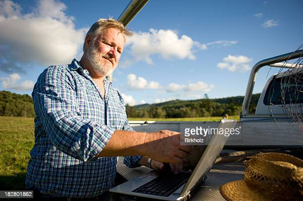 Farmer Using Laptop