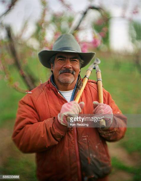 Farmer with Pruning Shears