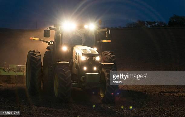 Farmer Working Late