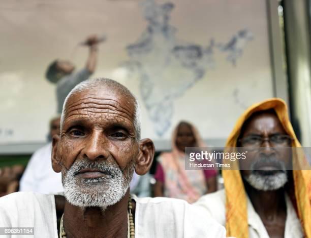 Farmers during a panchayat organized by the Bharatiya Kisan Union at Jantar Mantar on demanding the CBI investigation at Mandsaur Madhya Pardesh case...