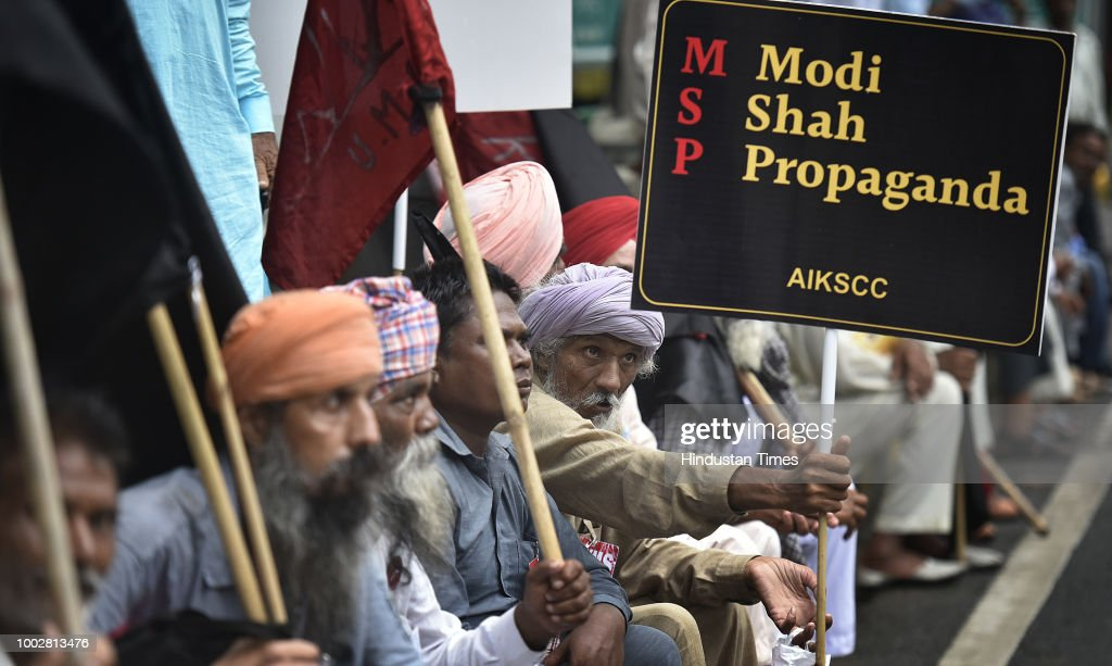 Farmers Protest Against MSP Announced By NDA Government