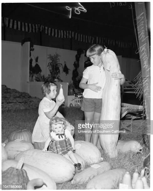 Farmer's Fair in Hemet August 21 1957 Nelda Arzate 16 yearsHenry PylmanDiana Percival 17 yearsKay Lynn Matthews 17 yearsTessie Costello 18 yearsNancy...