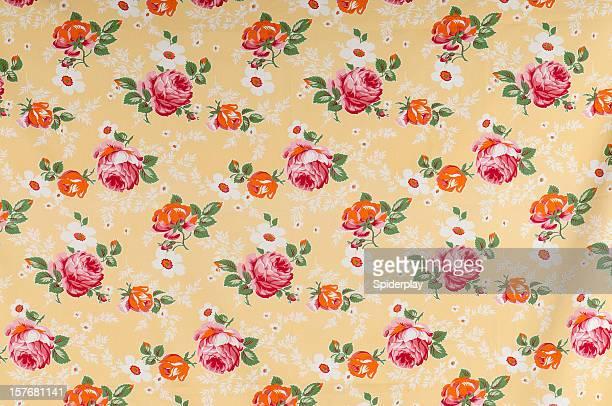 Los agricultores medio Floral antigüedades de tela