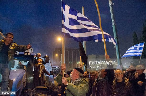Farmers from all over Greece demonstrate in Syntagma Square in Athens against the new pension reforms that Greek goverment plans