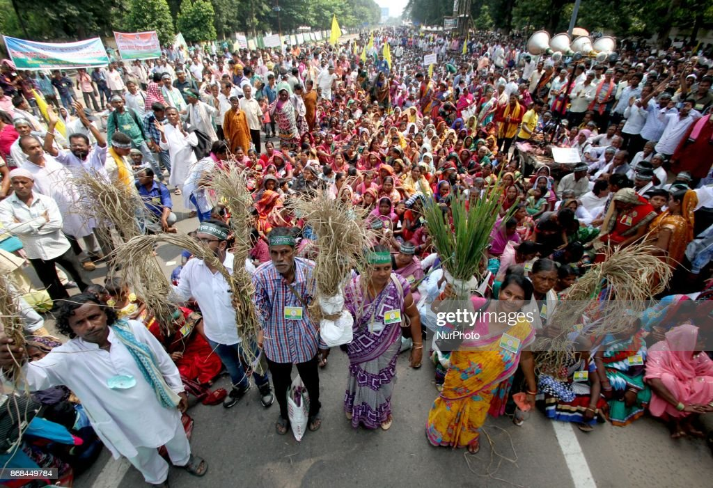 Indian Farmers Protest in Odisha state : News Photo