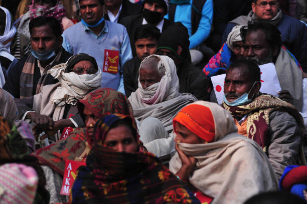 IND: Indian Farmers Protest In Allahabad