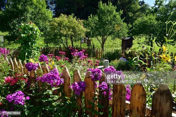 Farmer's garden according to an old tradition of the Bees Museum Costalovara municipality of Ritten TrentinoAlto Adige Italy
