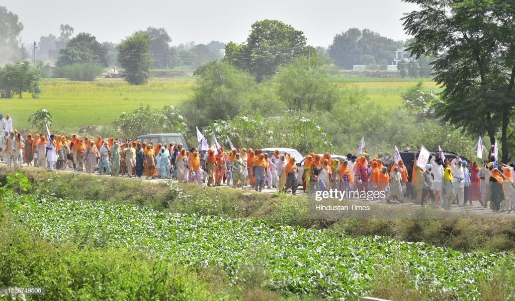 'Rail Roko' Protest Against Farm Bills in Punjab : News Photo