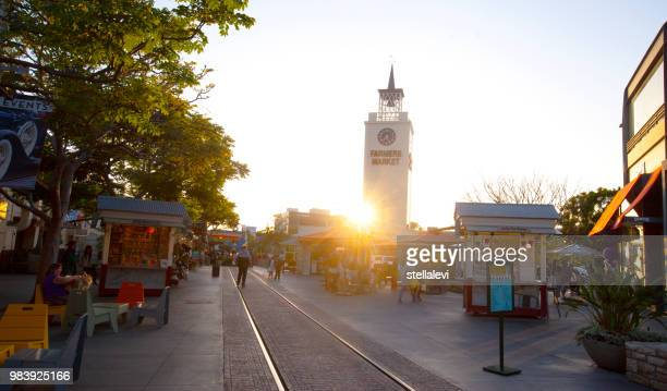 farmers market and clock tower los angeles - the grove los angeles stock pictures, royalty-free photos & images