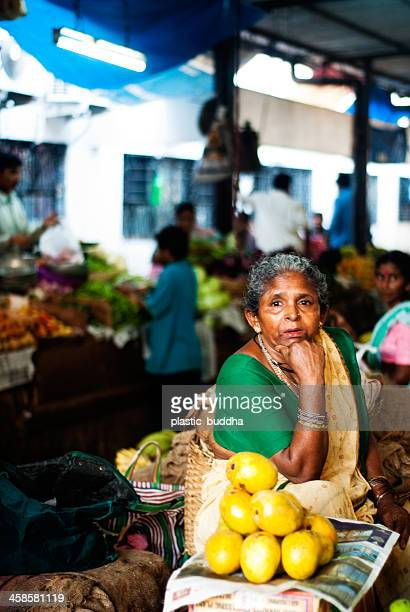 farmers market at goa - panjim stock photos and pictures
