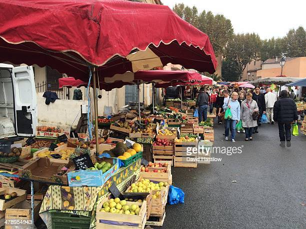 Farmers market at Lorgues Provence France