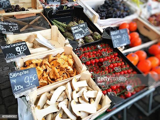 Farmer's market in Lucerne, Switzerland