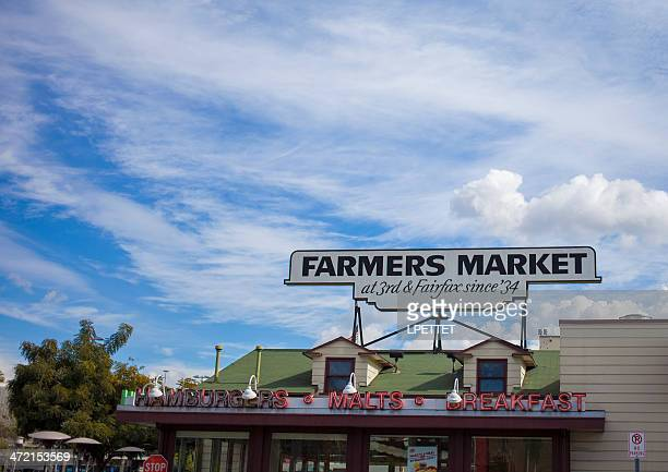 farmers market - los angeles - the grove los angeles stock pictures, royalty-free photos & images