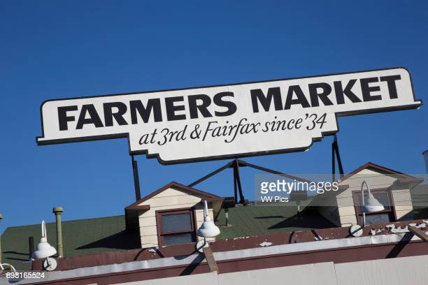 Farmers Market Sign Los Angeles California USA