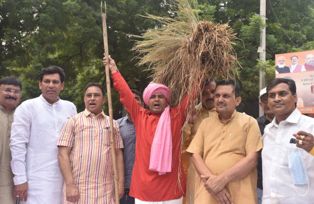 IND: BJP's Delhi Unit Stage Protest Over AAP Govt's Non-Fulfilment Of Promises To Farmers
