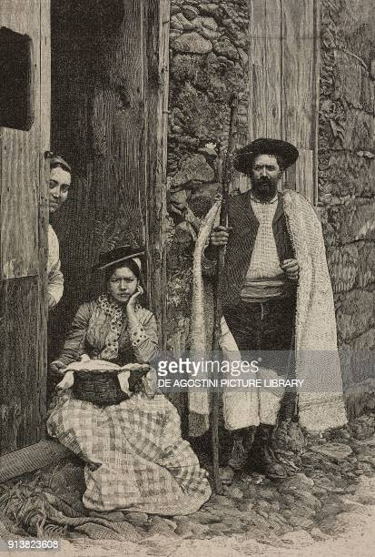 Farmers of Tenerife Canary Islands Spain engraving after a photo from L'Illustrazione Italiana Year XX No 7 February 12 1893