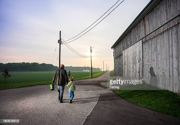 Farmers off to work