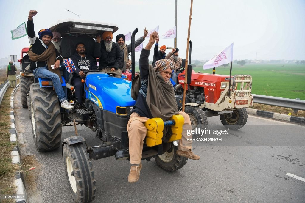 TOPSHOT-INDIA-POLITICS-AGRICULTURE-PROTEST : News Photo