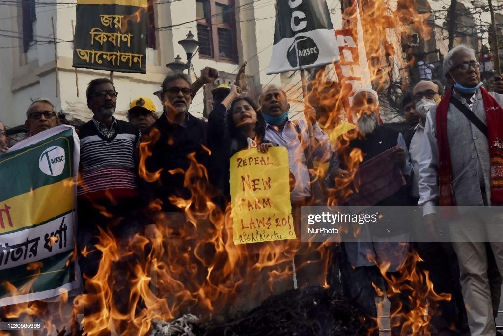Farmers Protest In Kolkata : News Photo