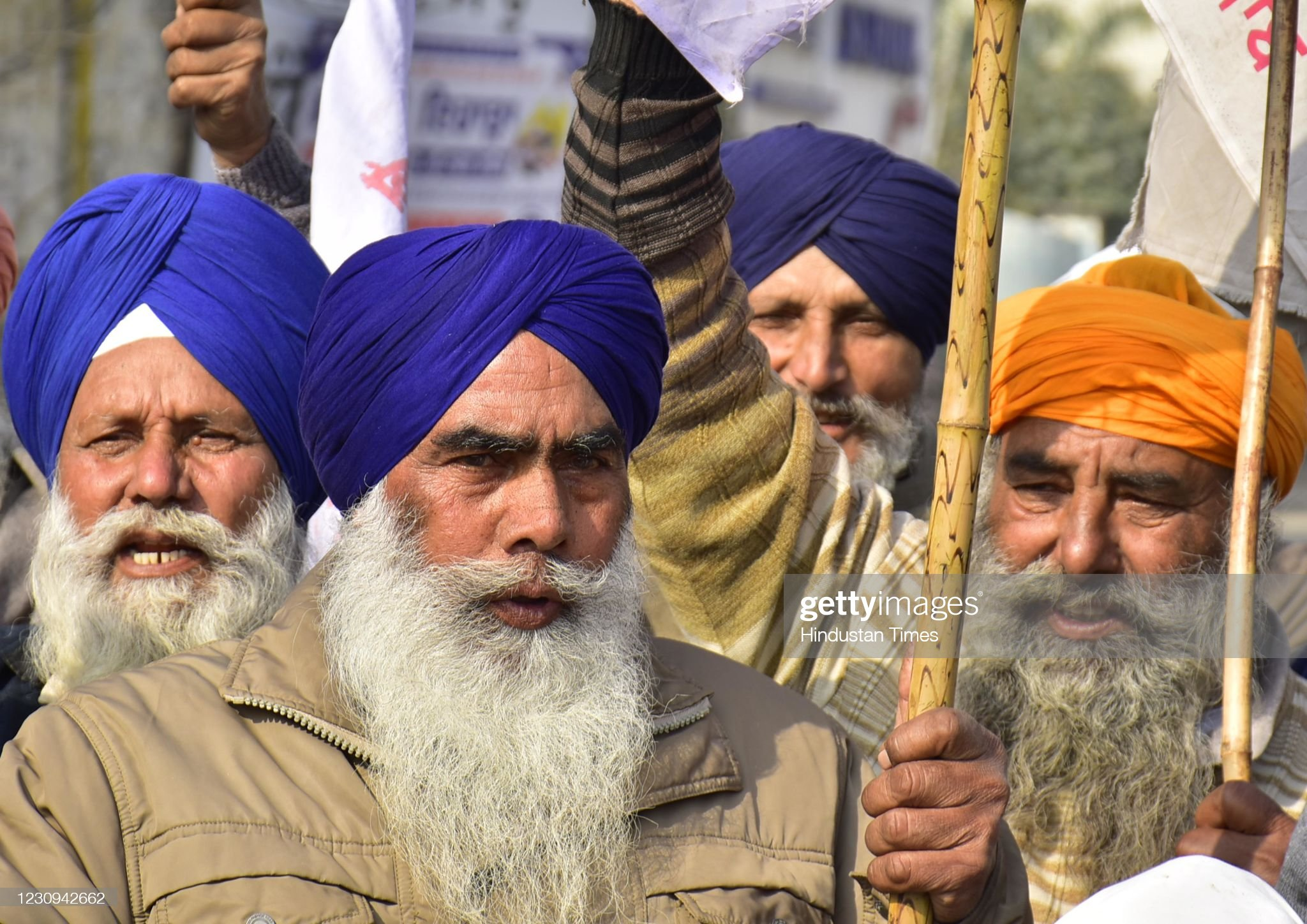 Indian Farmers Protest Against The New Farm Laws : News Photo