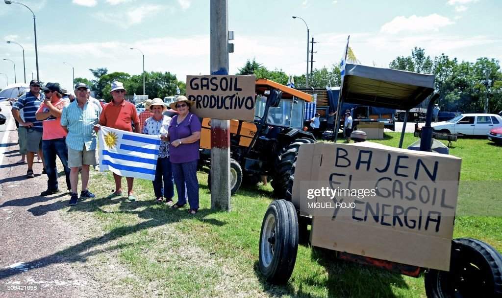 URUGUAY-AGRICULTURE-PROTEST : News Photo