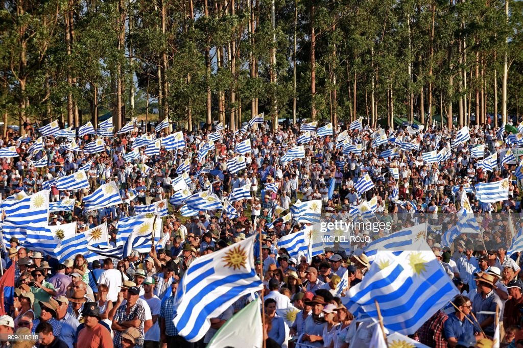 TOPSHOT-URUGUAY-AGRICULTURE-PROTEST : News Photo