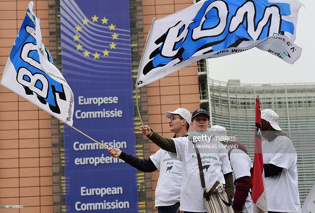 BELGIUM-EU-AGRICULTURE-PROTEST : News Photo