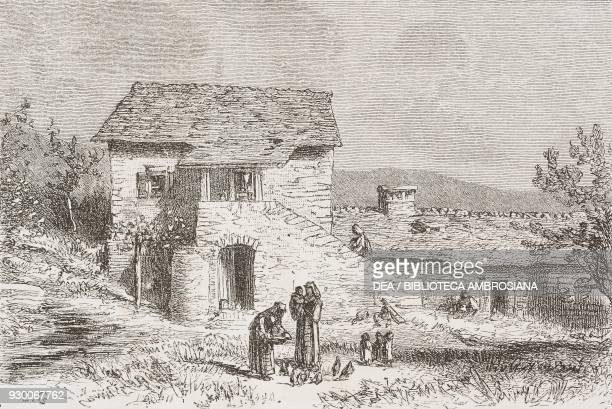 Farmersteads in Drnis Croatia drawing by Eugene Grandsire from a sketch by Yriarte from Dalmatia by Charles Yriarte from Il Giro del mondo Journal of...