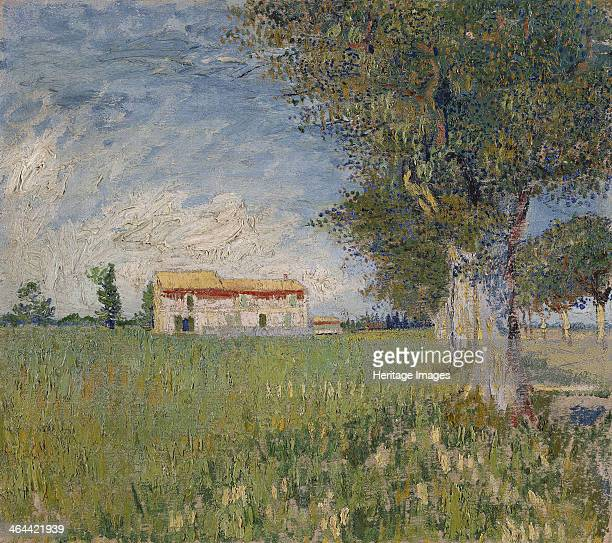 Farmhouse in a wheat field 1888 Found in the collection of the Van Gogh Museum Amsterdam