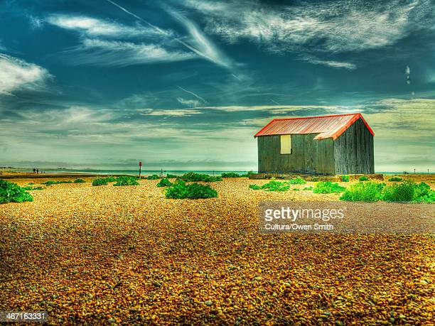 farmhouse in rural landscape - rye stock photos and pictures