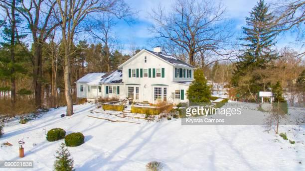 Farmhouse Scenics in Winter in Ohio