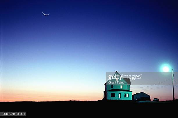 Farmhouse, sunset (Digital Composite)