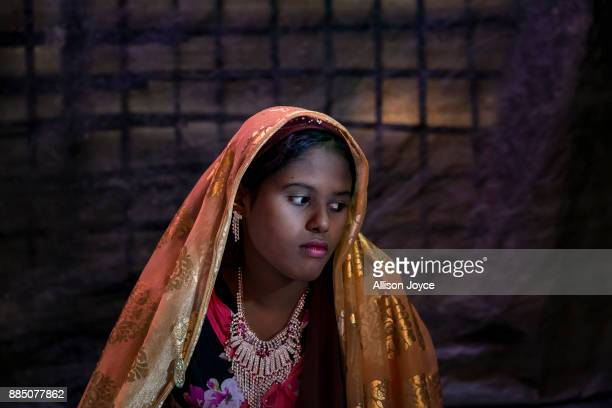 COX'S BAZAR BANGLADESH NOVEMBER 27 Farmina Begum is seen on the day of her wedding to 18 year old Hashimullah in a Bangladesh refugee camp November...