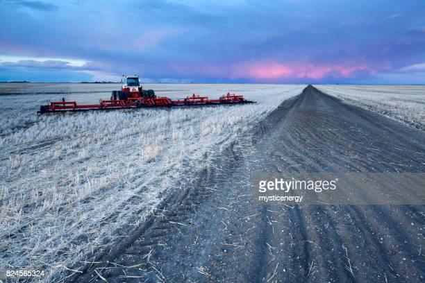 Farming On The Prairie Saskatchewan Canada