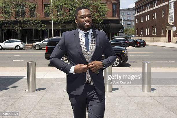 Farmington Conn resident Curtis James Jackson III known as 50 Cent arrives to the Federal Court House in Hartford on Wednesday July 6 for his Chapter...