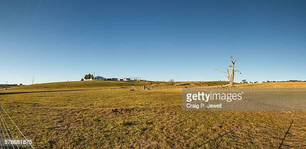 Farmland and farmhouse