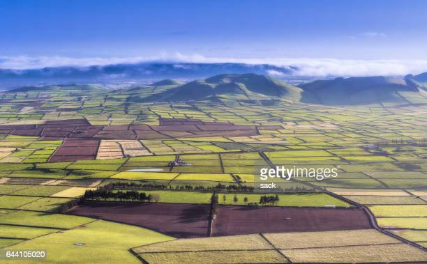 Farmland and landscape on Terceira Island, Azores