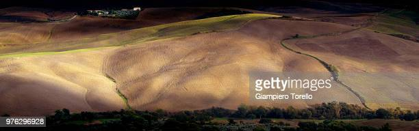 farmland, tuscany #2 - fossil site stock pictures, royalty-free photos & images
