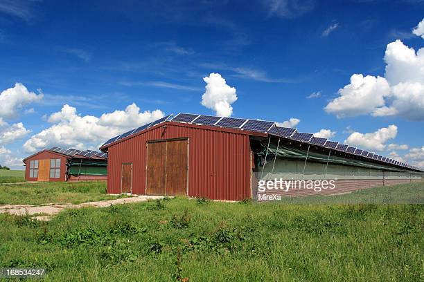 Farms with solar panels
