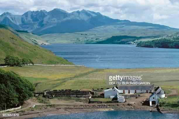 Farmstead at Kilt Rock Isle of Skye Hebrides Scotland United Kingdom