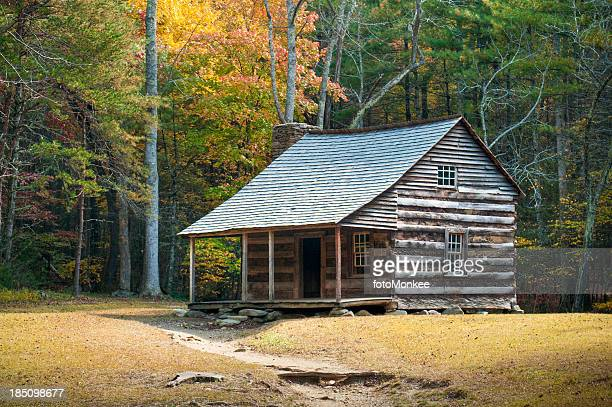 Farmstead, Cades Cove, Great Smoky Mountains, Gatlinburg, Tennessee, USA