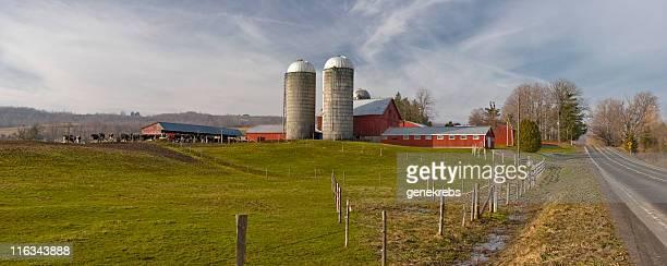 Farmstead Panorama on a Winter  Morning