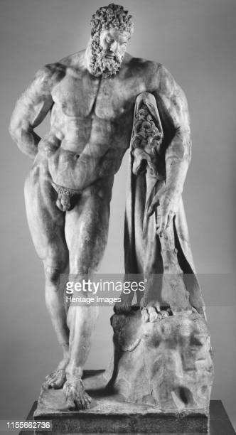 Farnese Hercules Mid 2nd cen AD Found in the Collection of Museo Archeologico Nazionale di Napoli Artist Art of Ancient Rome Classical sculpture